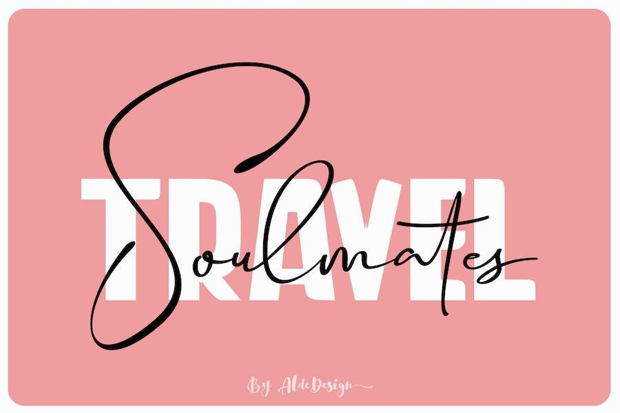 Travel Soulmates // Font Duo