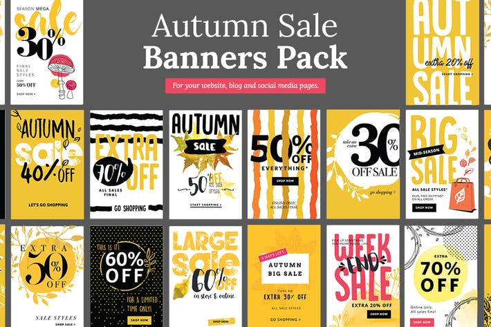 Thumbnail for Autumn Social Media Sale Banners