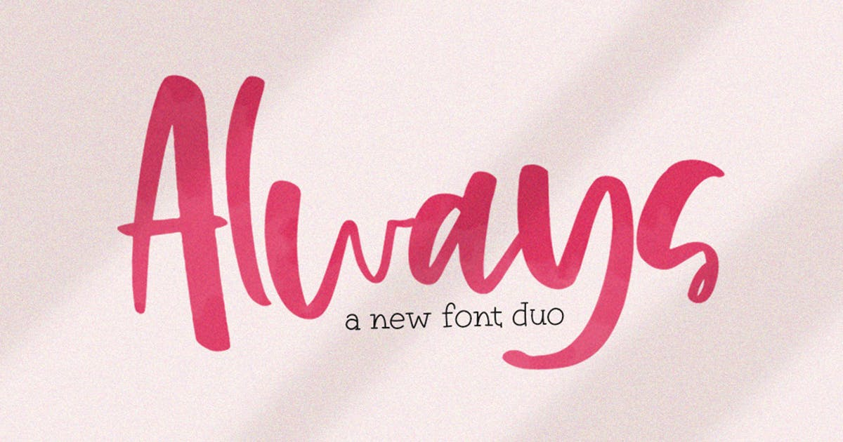 Download Always Font Duo by maroonbaboon
