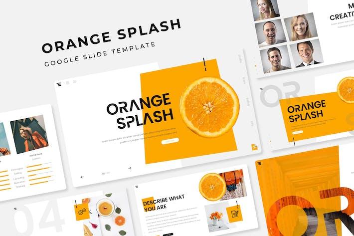 Thumbnail for Orange Splash - Google Slide Template
