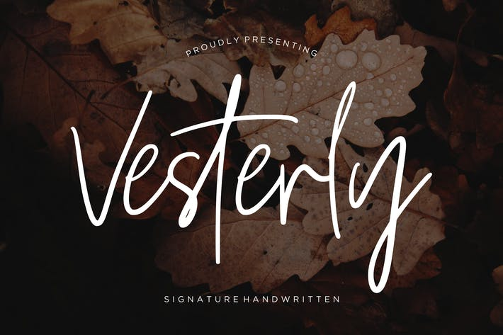 Thumbnail for Vesterly Signature Handwritten