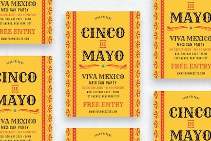 Cinco de Mayo Party - Flyer