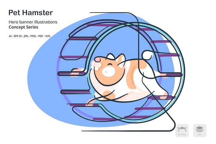 Thumbnail for Pet Hamster Vector Illustration