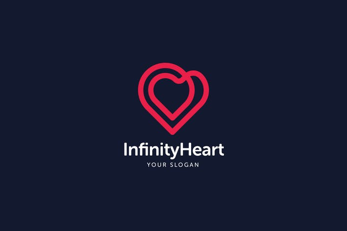 Thumbnail for Infinity Heart Logo Template