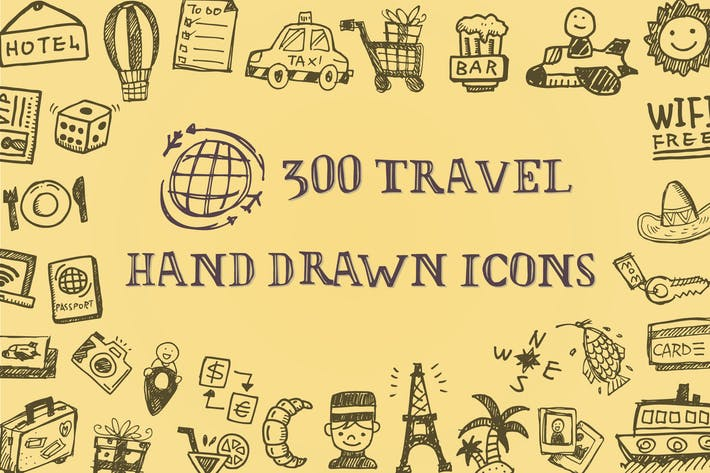 Thumbnail for Íconos de viaje dibujados a Mano