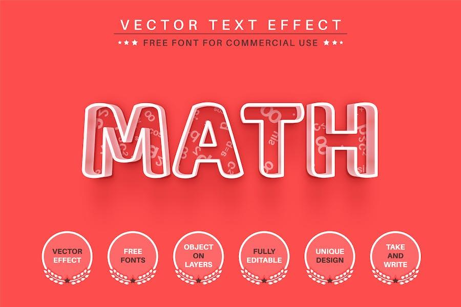 Math -  Editable Text Effect, Font Style