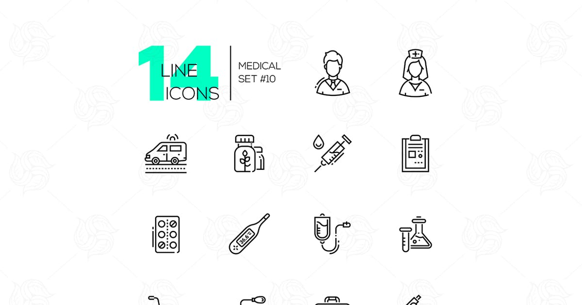 Download Medical Equipment - line icons set by BoykoPictures