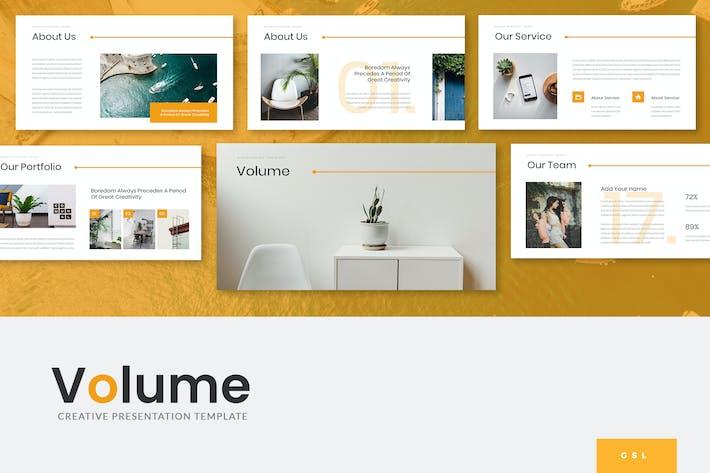 Thumbnail for Volume - Creative Google Slides Template