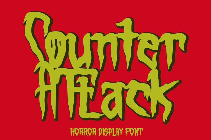 Thumbnail for Counter Attack - Horror Font
