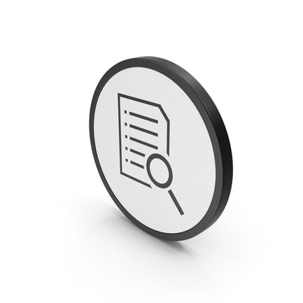 Icon Document With Magnifying Glass
