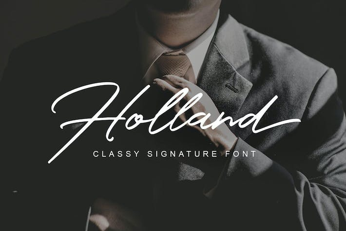 Thumbnail for Holland Classy Font
