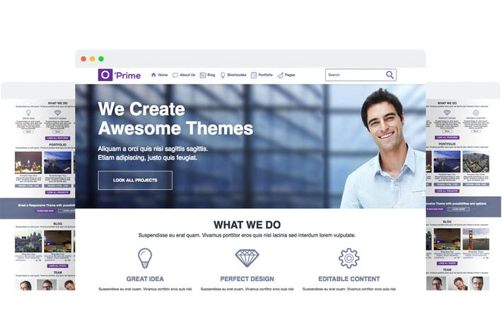 Thumbnail for O'prime Multi Purpose Responsive HTML Template