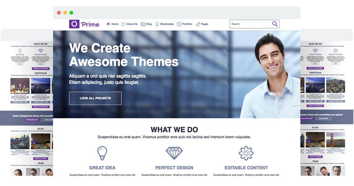 Download O'prime Multi Purpose Responsive HTML Template by SpyroPress