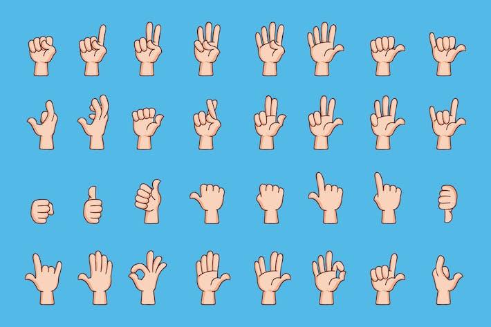 Thumbnail for Cartoon-Handgesten-Kollektion