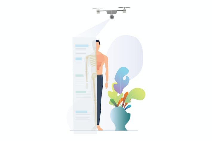 Thumbnail for Medical Analysis with Drones Illustration