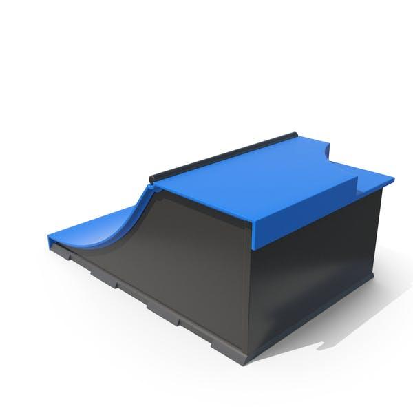 Skateboard-Rampen Blau