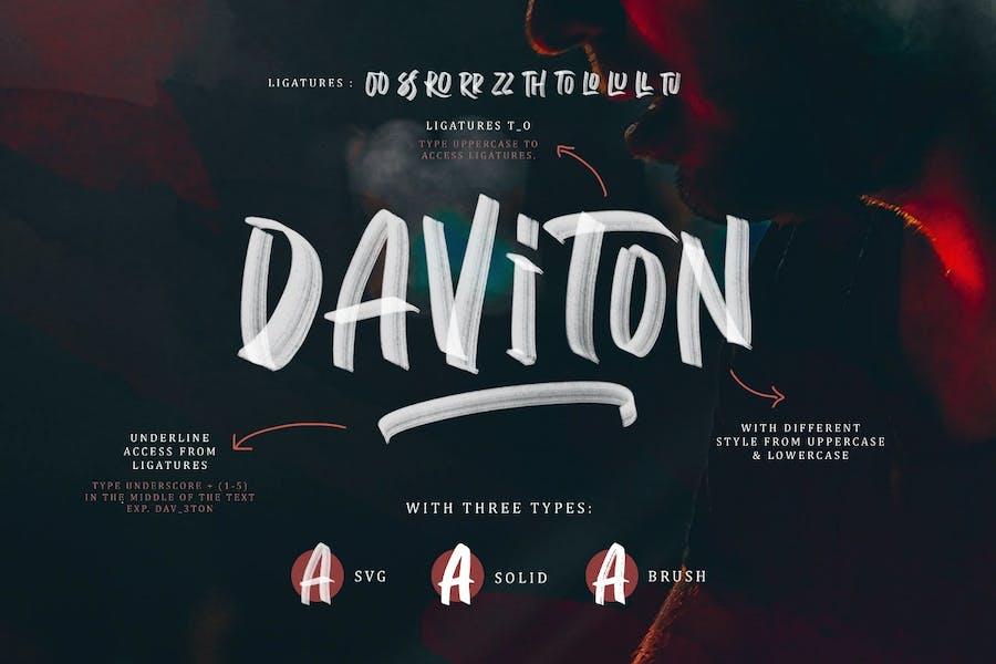 Daviton SVG - Freestyle Font