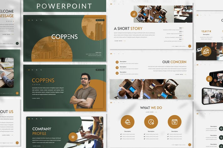 Cover Image For Coppens - Business Powerpoint Template