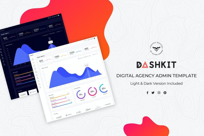 Cover Image For Digital Agency Admin Dashboard UI Kit