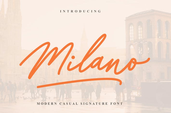 Thumbnail for Milano Signature Font