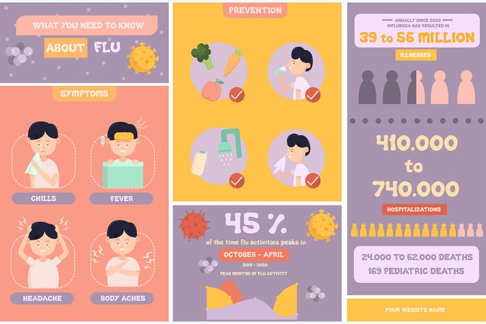 About Flu Infographic