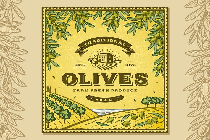 Thumbnail for Vintage Olives Label
