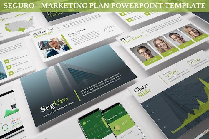 Thumbnail for Seguro - Marketing Plan Powerpoint Template