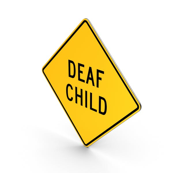 Deaf Child Delaware Road Sign