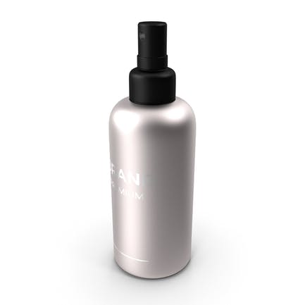 Botella de spray cosmético negro