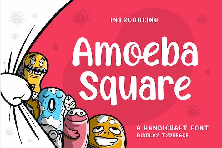 Thumbnail for Amoeba Square Display Font