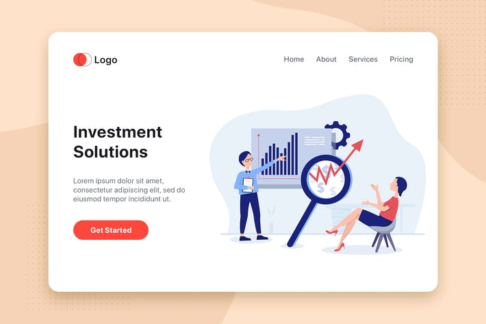 Thumbnail for Investment Solution vector illustration concept