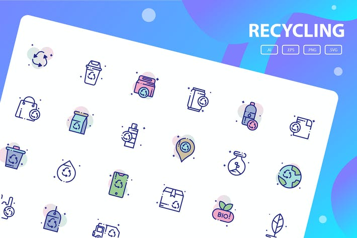 Thumbnail for Recycling Icon Pack