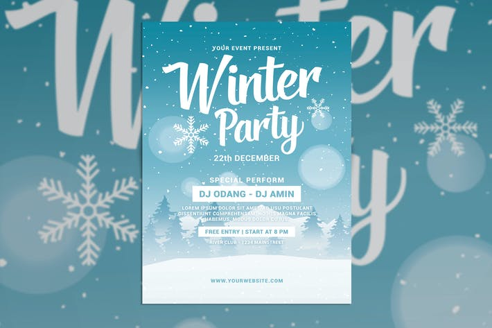 Thumbnail for Winter Party Flyer