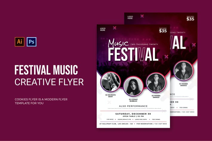 Thumbnail for Musique du Festival - dépliant