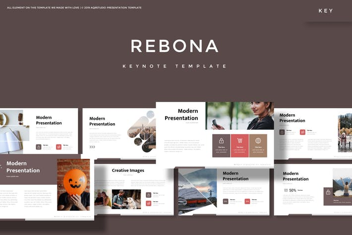 Thumbnail for Rebona - Keynote Template