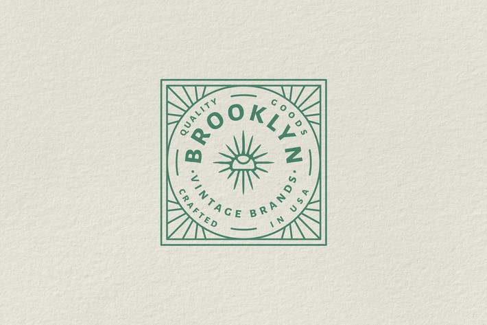 Vintage Badge Logo - Brooklyn Vintage Brands