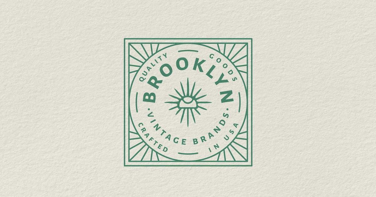 Download Vintage Badge Logo - Brooklyn Vintage Brands by tacikworks