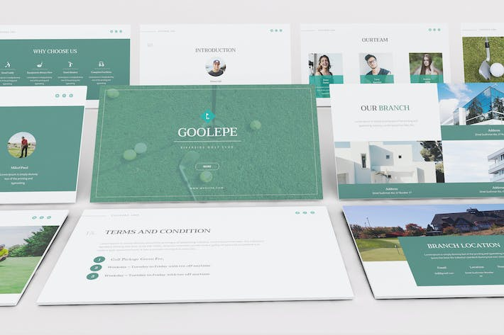 Thumbnail for Golf Powerpoint Presentation Template