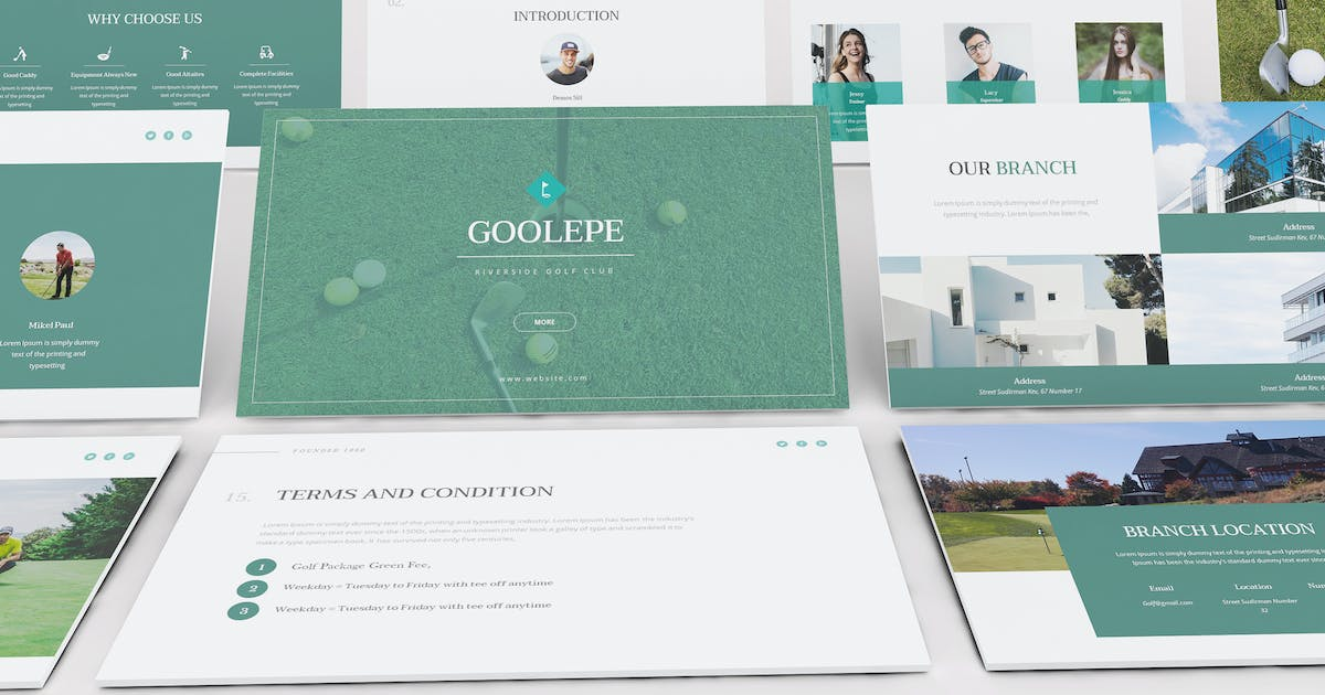 Download Golf Powerpoint Presentation Template by Formatika