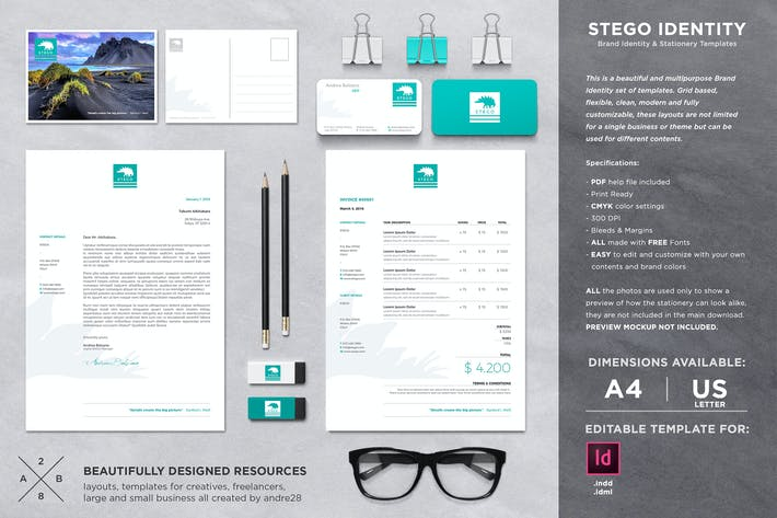 Thumbnail for Stego Stationery Set & Invoice