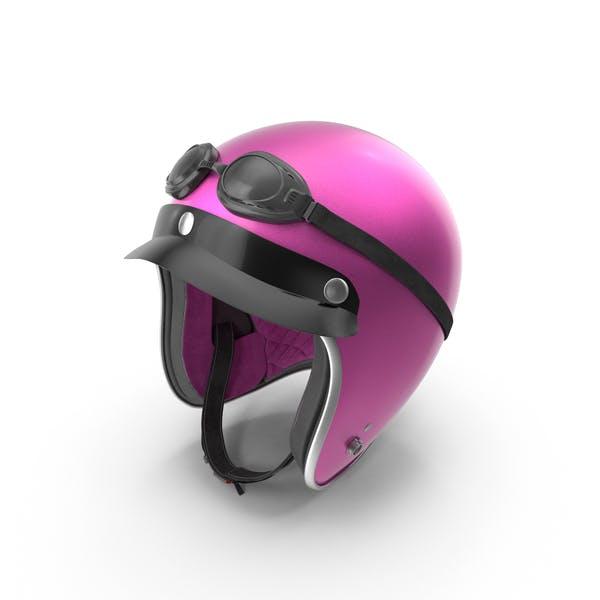 Thumbnail for Pink Retro Motorcycle Helmet