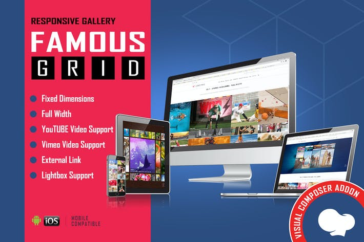 Thumbnail for Famous - Grid Gallery for WPBakery Page Builder