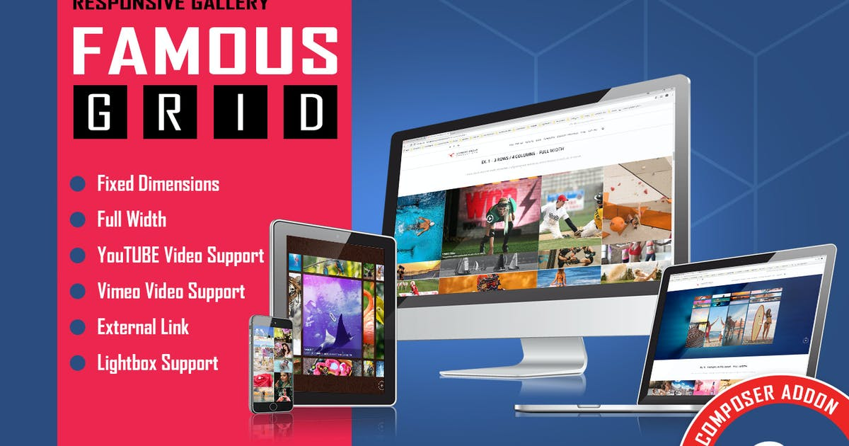 Download Famous - Grid Gallery for WPBakery Page Builder by LambertGroup