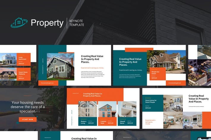 Thumbnail for Property - Keynote Presentation Template