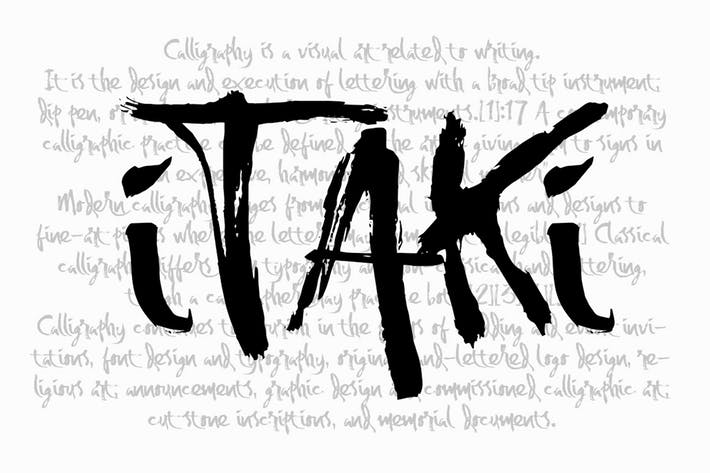 Cover Image For Itaki - Calligraphic Typeface