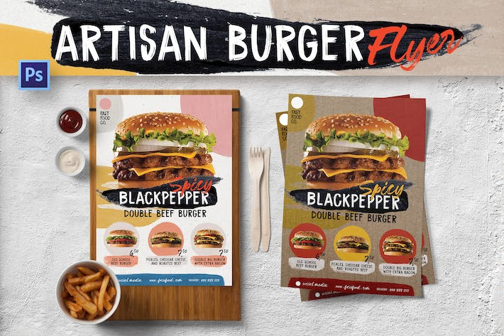 Thumbnail for Fun Artisan Burger dépliant