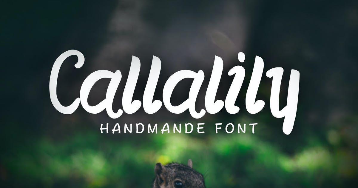 Download Callalily Typeface by jiwstudio