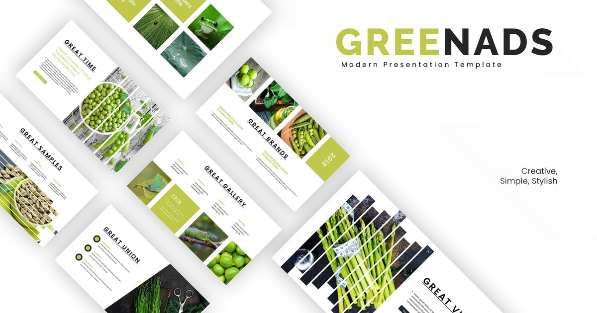 Download Greenads - Keynote Template by karkunstudio