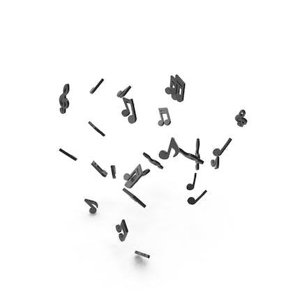 Black Music Note Keys