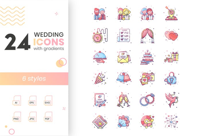 Thumbnail for Wedding Icon Set